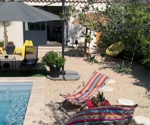 Studio en Provence avec piscine